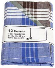 """12 Herren-Taschentücher """"Arabias""""in grün, braun, blau 100% Baumwolle 40 x 40 cm"""