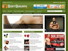 Hot Body Building / Muscle Fitness Tips Wordpress Blog Website For Sale!