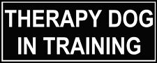 "Pair of Patches - ""THERAPY DOG IN TRAINING""  for dog harness or collar - Medium"