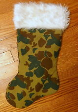 Vintage Santa Camouflage Christmas Boys Girls Soldier Army Hunter Stocking