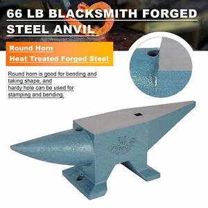 30 Kg Anvil Steel Blacksmith Cast Iron Long Round Horn Metal Forging Hardy Hole