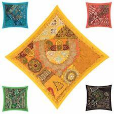 "Fair Trade Patchwork Cushion Cover 16""x16"" 40x40cm Embroidery Sari Heavy Square"