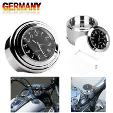 Motorrad Uhr großes Zifferblatt Top für Honda BMW Lenkeruhr Metall Chrom DE