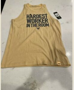 Men's Under Armour Project Rock Hardest Worker In The Room Tank Top Size: Large