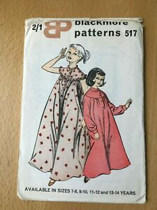 New Unused Vintage Blackmore Sewing Pattern Girl's Dressing Gown Size 7-14 Yrs