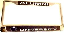 Penn State Nittany Alumni Lions Carbon Chevron LASER CHROME LICENSE PLATE FRAME