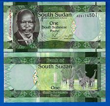 South Sudan P-5a One Pound Year 2011 Uncirculated Banknote Africa