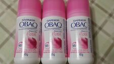 3 DEODORANT ANTIPERSPIRANT OBAO GARNIER FRESCURA FLORAL (PACK 3) MEXICO ROLL ON