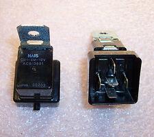 QTY (2) CB1-SM-12V NAIS 12V AUTOMOTIVE RELAYS WITH BRACKET ACB13601 NOS