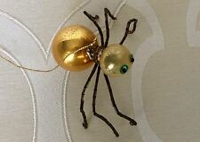 Vintage Spider Ornament with Glass Balls and Bugle Bead Legs
