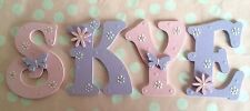 Hand Painted 9cm Wooden Letter Wall Door Window Children Name Boy Girl Floral