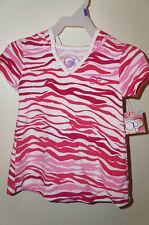OP Infant Girls Hooded Swim Pool Beach Sun Coverup Pink Zebra Print Size 12M NWT