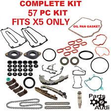 Timing Chain kit set Gaskets kit Chain Guides Rails Set 57pcs kit BMW X5 Only