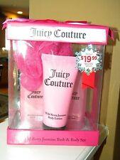 JUICY COUTURE Wild Berry Jasmine Bath & Body Set 4- PIECE BOXED GIFT SET NEW