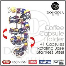 Spiral Rotating Coffee Capsule Pod Holder Stand Stainless Steel suit Lavazza