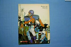 1967 New York Giants vs. Chicago Bears Program Wrigley Field 12-12 1967 ex