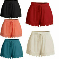 NEW Summer Women Casual Beach Shorts Ladies Sports Shorts Cotton Pants Plus Size
