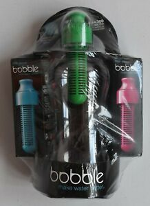 Bobble Make Water Better BPA Free Drinking Purifie Set of 1 Bottle and 3 Filters