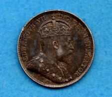 Canada 1902 5 Cents Five Cent Small Silver Coin - EF