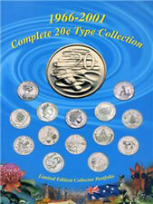 2001 Australian 20¢ Complete 1966-2001 Type Coin Collection