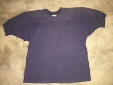 Vintage Russel Athletic Pro Cotton Football Shirt Navy Size Large Made In Usa