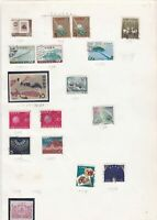 Japan stamps on album page Ref 9873