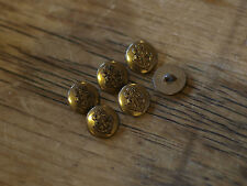 6x Metal Brass Colour Sailor Navy Buttons 15mm