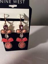 $28 Nine West Coral Reef Drama Earrings NW #209