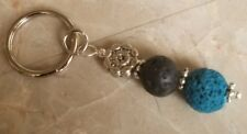 Aromatherapy Lava beads Essential Oil Diffuser Charm Key Ring Handmade Free Ship
