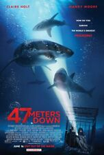 47 Meters - original DS movie poster - 27x40 D/S Claire Holt - Sharks