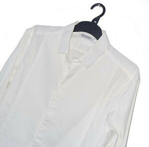 Men's NEIL BARRETT Luxury White **SKINNY FIT** Dress Shirt Size 16.5/42 L *VGC*