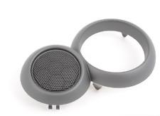New Genuine MINI R52 Left Door Speaker Grille Cover Metal Gray 9124127 OEM