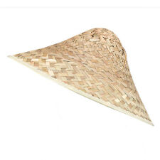 Coolie Straw Hat Accessory For Chinese Oriental Far East Fancy Dress