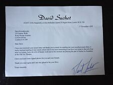 DAVID SUCHET - POIROT ACTOR - SIGNED ONE PAGE TYPED LETTER