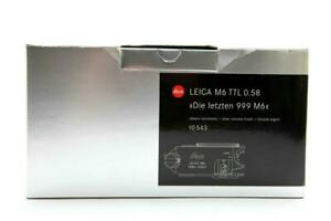 Leica M6 TTL 0.58 Box Only With Leica Strap & Certificate Of Authenticity #B1050
