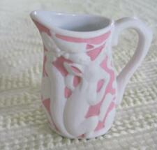 """Metropolitan Museum of Art Parian Pink and White Squirrel 3.5"""" Pitcher"""
