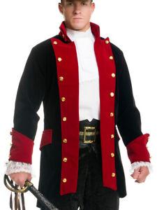 Adult's X-Large XL 49-48 Pirate Prince Wine And Black Velvet Costume Jacket Coat