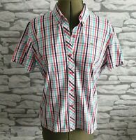 Lacoste  Womens Blue checked Shirt Size 42  Large 14uk Women's Ladies Top