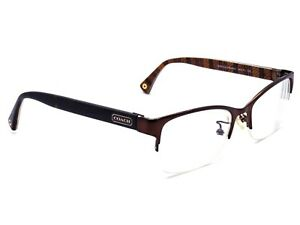 Coach Eyeglasses HC 5038 Montana 9076 Stain Brown Half Rim Frame 50[]17 135