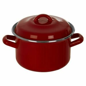 Porter Small Red Casserole Dish & Lid Dual Handles Secure Grip Cooking Kitchen