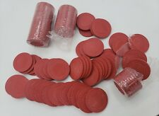 Trademark Poker Super Diamond Clay Composite Chips Set Of 100 8 Grams 39 MM Red