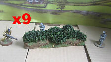 28mm Wargame tall hedge or bocage 2000mm+ - 45inches scenery Solid WW2 French