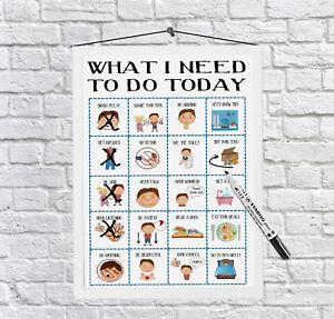 Kids, Daily Planner, Routine Chart, Kids To do, Behaviour, whiteboard, Checklist