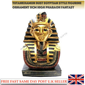 Tutankhamun Bust Egyptian Style Figurine Ornament Pharaoh Fantasy Decoration New