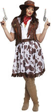 FANCY DRESS COWGIRL COWBOY OUTFIT PLUS SIZE 14-18