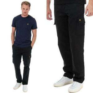 Mens Lyle And Scott Zip Fly Lightweight Cargo Trousers in Navy Blue, and Black