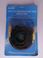 NIP 6 Ft Gold Plated Stereo Audio / Video Dubbing Cable Radio Shack