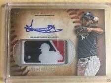 2015 Bowman Inception LOGOMAN MLB LOGO Patch AUTO Luis Severino Autograph 1/1