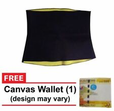 Hot Shapers Smart Fabric Belly Shapewear (Black) with FREE Canvas Wallet - SMALL