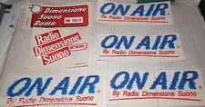 LOTTO DI 6 ADESIVI DELLA RADIO DIMENSIONE SUONO ROMA COLLEZIONISMO STICKERS DI E